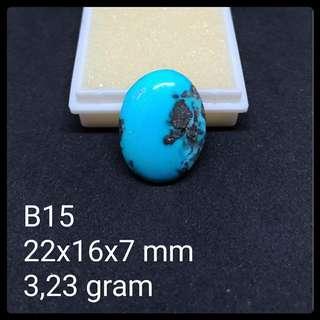 Batu Pirus Persia B15 Natural Pyrus Turquoise Akik