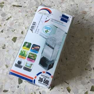 Odyssey aquarium filter with surface skimmer