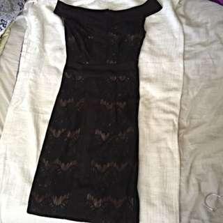 Zalora Premium Off Shoulder Lace Dress