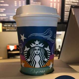Starbucks planner + vinta reusable cup
