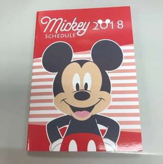 2018 Schedule Book Mickey Mouse