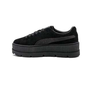PUMA FENTY SUEDE CLEATED CREEPER SNEAKERS 麂皮增高厚底鞋 黑