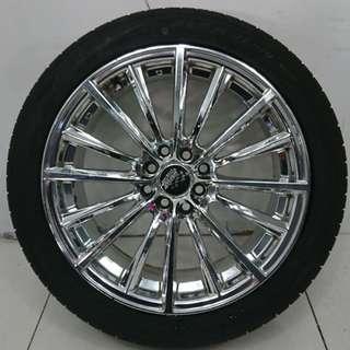17 '' Sport Rim With Tyre 4x100 4x114.3(SR909)