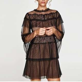 ZARA Contrast Mini Dress