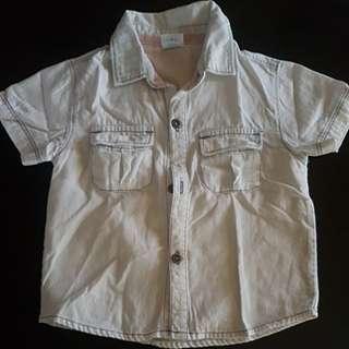 Denim Shirt Polo