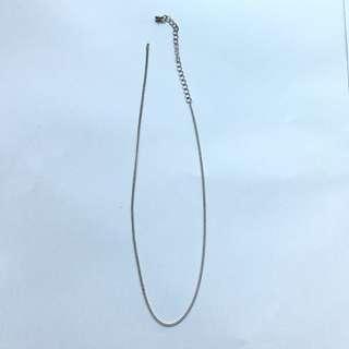 Plain silver chain