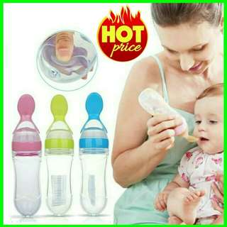 💥RS💥 Baby Infant Squeeze Spoon Food Feeder