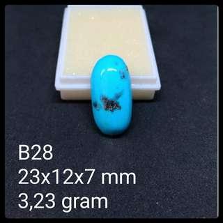 Batu Pirus Persia B28 Natural Pyrus Turquoise Akik