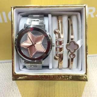 MK Watch with bangle set