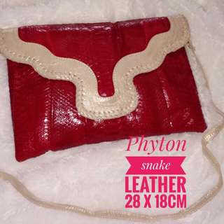 Clutch/sling bag phyton leather original
