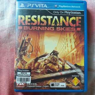 WTS/WTT Resistance Burning Skies for PsVita