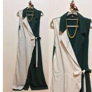White and Green Jumpsuit
