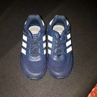 Adidas blue shoe kid