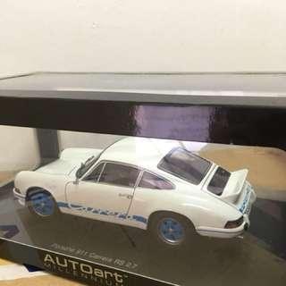1/18 Porsche Carerra 2.7. White/Blue. AutoArt