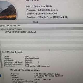 IMAC 27吋 3.4Ghz i5 升級版 2GB 獨立顯示卡 2GB 213-Late  外觀新淨