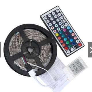 5M RGB LED Strip Light Bars Fairy Lights With Remote Control Super BrightHEA W/ 2 pin plug