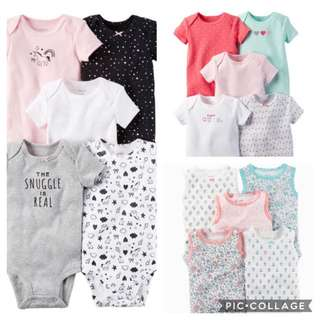 Carter's 5pcs Bodysuits - 6m