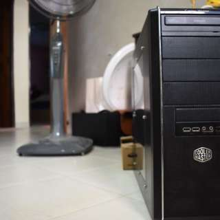 Coolermaster casing + Samsung cd reader + 530w PSU