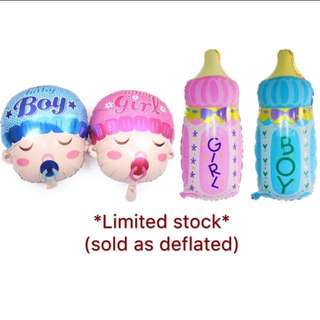 (16/1) Free normal mail-  promotion : baby shower / full month party foil balloons wall deco (Baby boy, baby girl) - promotion / sale