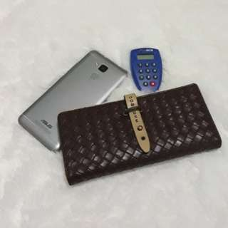 Dompet Anyam Coklat