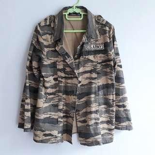 Jaket Parka Motif US Army