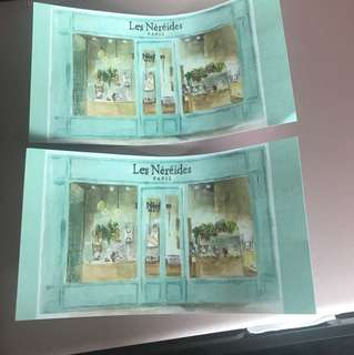 Les nereides 100 cash coupon (total 2) 現金券
