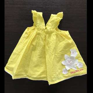 Calvin Klein Jeans Yellow Girls Top Dress 24M