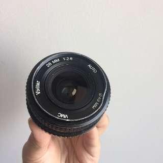 Vivitar 28mm 2.8 lens PK mount