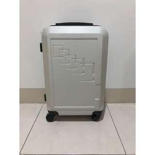 全新銀米幾何登機箱行李箱 21寸輕量 附鎖 輕旅行 簡約設計感 商務旅行 小旅行 後背包