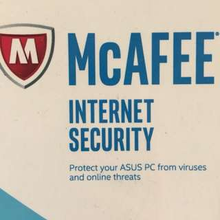 **McAFEE internet security 1 YEAR**