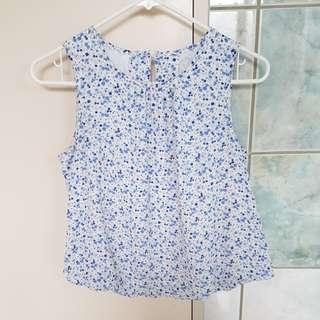 Flowy floral dress top
