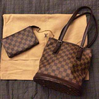 Louis Vuitton Damier Ebene Marais Petit Bucket bag
