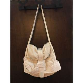 "Balenciaga Corduroy Knit Contrast ""Matrix"" Shoulder Hobo Bag in White"
