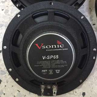 VSonic V-SP65, 6.5 inch Loudspeaker System. Car Radio And Audio System
