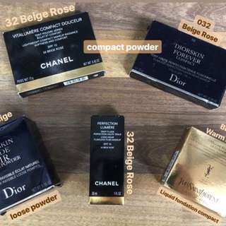 Chanel, YSL, Dior Compact & Loose Powder
