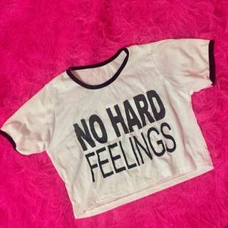 No hard feelings crop top