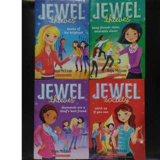 Jewel Thieves by Hope McLean Set of 4 Teen Girls Novel Adventure Crime