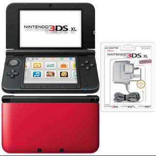 Perfect Condition Nintendo NDS 3DS XL Black Red