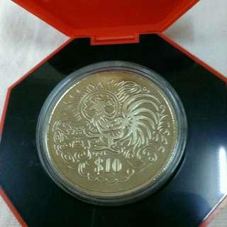 🐓1993 $10 Cupro-Nickel Proof-Like Coin