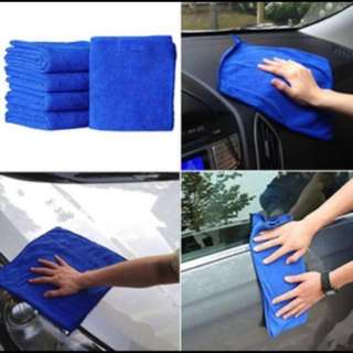 38x38 (cm) Yellow Absorbent Wash Cloth Car Auto Care Microfiber Cleaning Towels (3pcs)