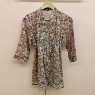 Blouse polo floral
