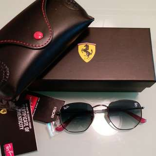 Original rayban FERARRI limited edition RB 3548 LIght gray lens