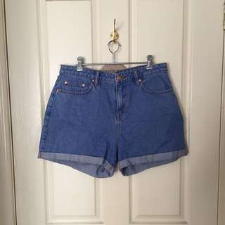 Highwaisted Denim Shorts Size 12