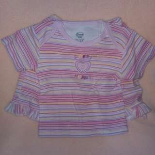 Owen Shirt and Shorts 9 to 12 months Stripes Yellow Pink