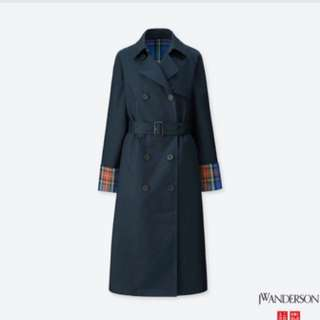 JW Anderson x Uniqlo Trench Coat / navy/ size L