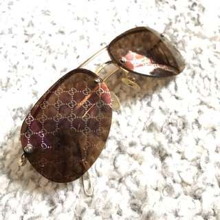 Vintage Gucci GG Logo aviator sunglasses