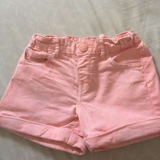 Pink coral jeans