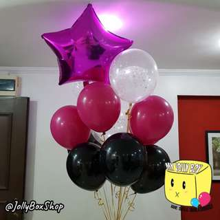 24 Inch Star Balloon with 9 Normal Balloons Package | Perfect for Birthday Party, Weddings, Proposals, Corporate Events
