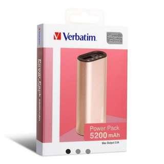 Verbatim 充電器 5200mAh 尿袋 奶媽 Power Pack