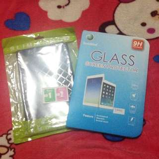 🌺 Glass screen protector and slim armor case